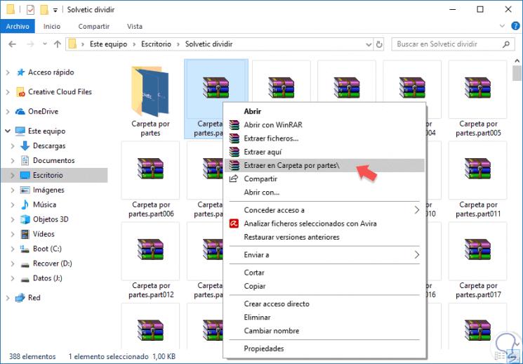 abrir archivos rar en windows