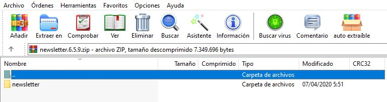 Abrir archivos Rar
